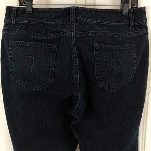 Chico's Size 1.5 Bootcut Stretch Jeans Dark Wash